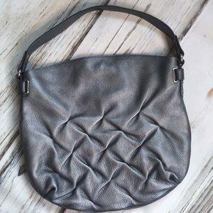 Aimee Kestenberg Silver Pebbled Leather Purse Bag
